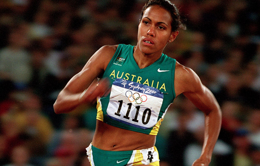 cathy freeman Australian sprinting legend cathy freeman has revealed the real reason why she broke down immediately after winning gold in the 400m sprint at the 2000 sydney olympics.