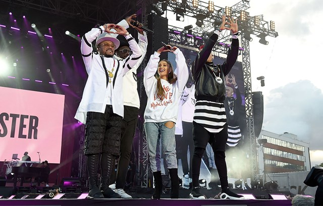 Ariana Grande and the Black Eyed Peas
