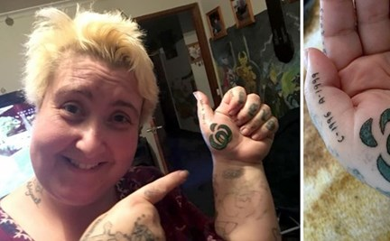 226b8452663e7 Woolworths obsessed mum gets supermarket logo tattooed on her hand