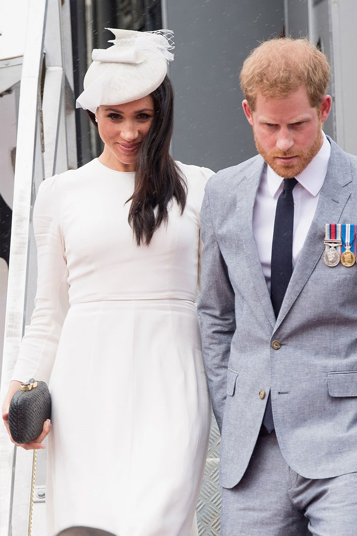 meghan markle wears australian brand zimmermann on royal tour who magazine meghan markle wears australian brand