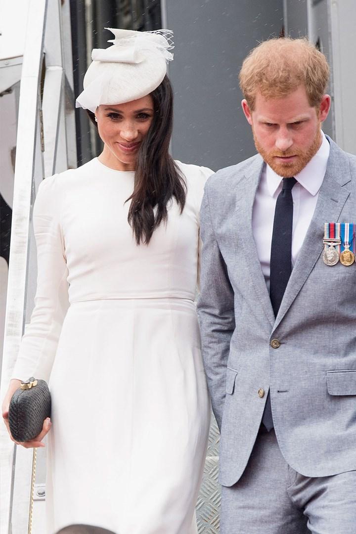 meghan markle wears australian brand zimmermann on royal tour who magazine meghan markle wears australian brand