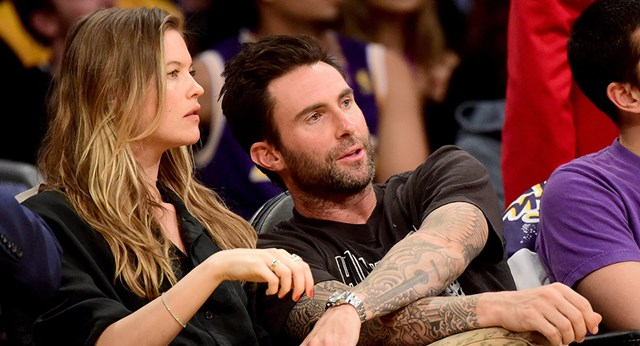 Behati Prinsloo shows off her blossoming baby bump