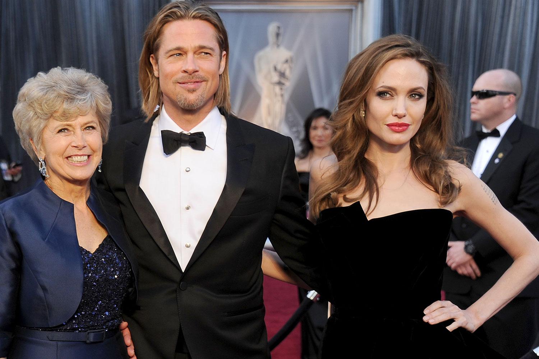 Foto på Brad Pitt & hans Mamma Jane Pitt