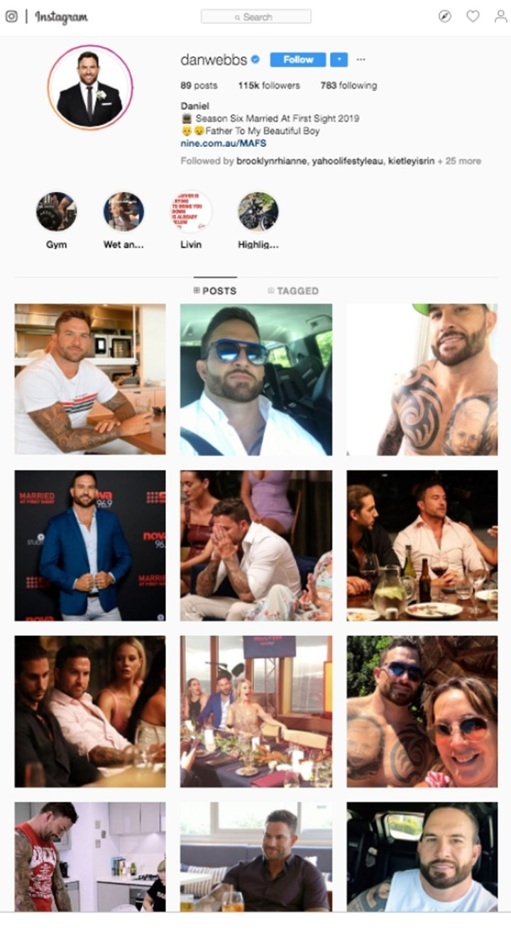 MAFS Dan and Jess just deleted each other from Instagram | WHO Magazine