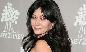 Shannen Doherty reveals her shaved head as she battles breast cancer