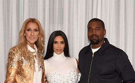 e5328860 Kanye West surprised Kim Kardashian with Céline Dion tickets and we can't  handle the