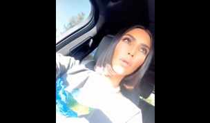 Kim Kardashian shows off her real hair