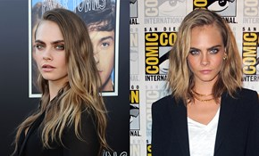 Cara Delevingne debuts new look at Comic-Con