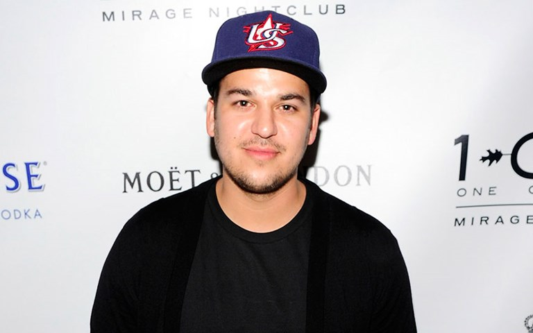Rob Kardashian shows off slimmed-down figure