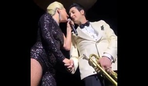 Lady Gaga kisses married man Brian Newman