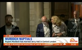 Rupert Murdoch and Jerry Hall tie the knot