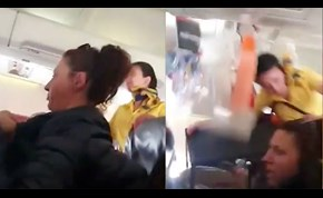 Flight Attendant Sent Crashing Into Ceiling by Violent Turbulence