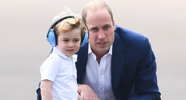 Prince William says Prince George is 'spoilt'