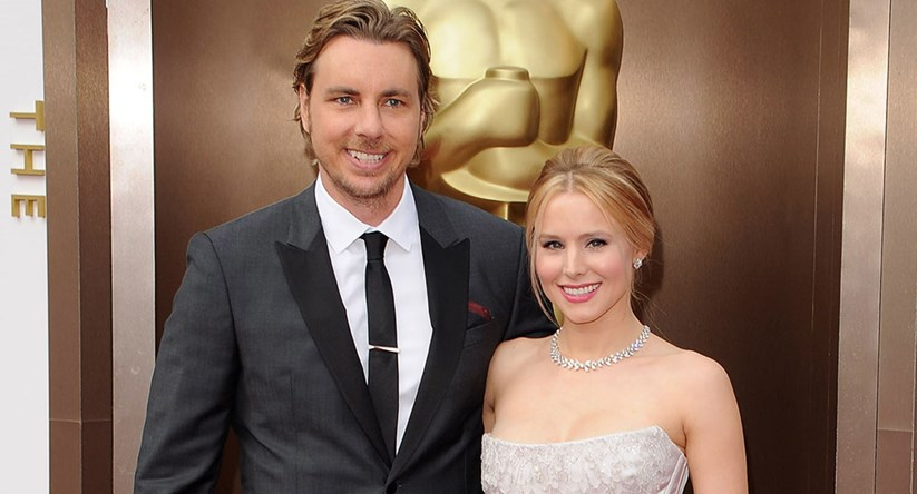 kristen bell s wedding dress was actually black pants who