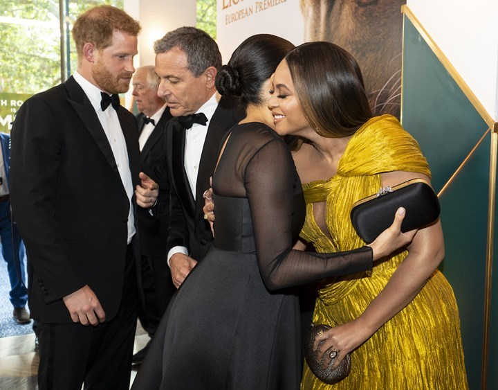 WATCH: Beyonce and Meghan Markle embrace each other at The Lion King premiere