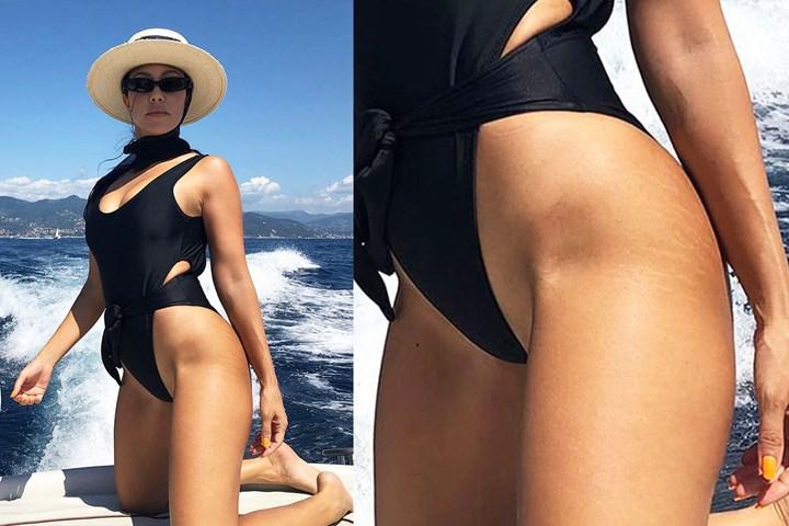 Kourtney Kardashian praised for proudly showing off stretch marks