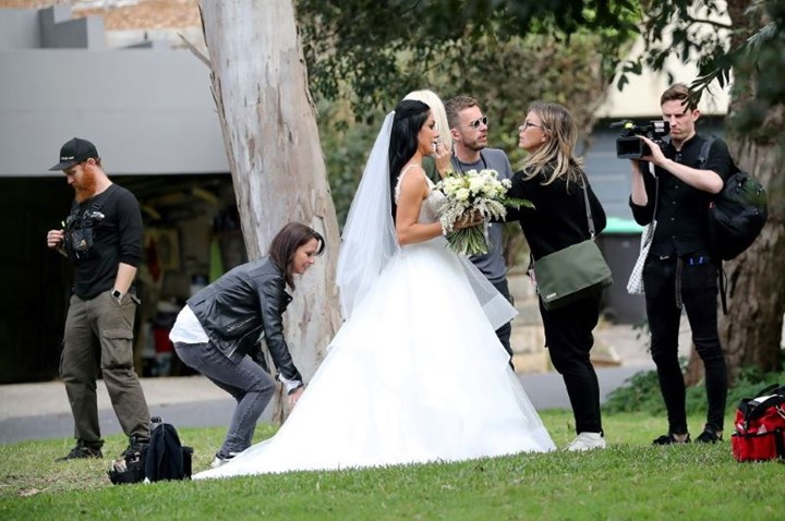 Married At First Sight films busty bride and bored groom