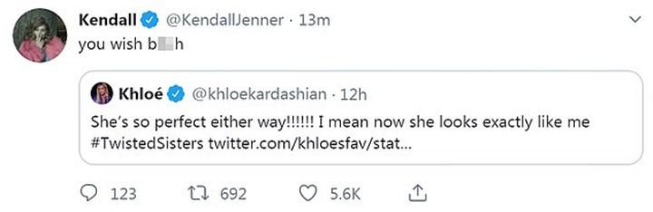 Kendall Jenner takes a swipe at Khloé Kardashian