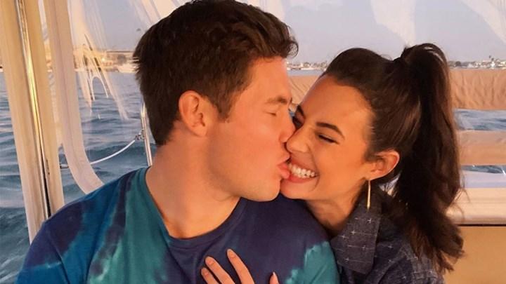 Adam DeVine and Chloe Bridges engaged