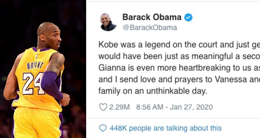 Celebrities take to social media to mourn Kobe Bryant