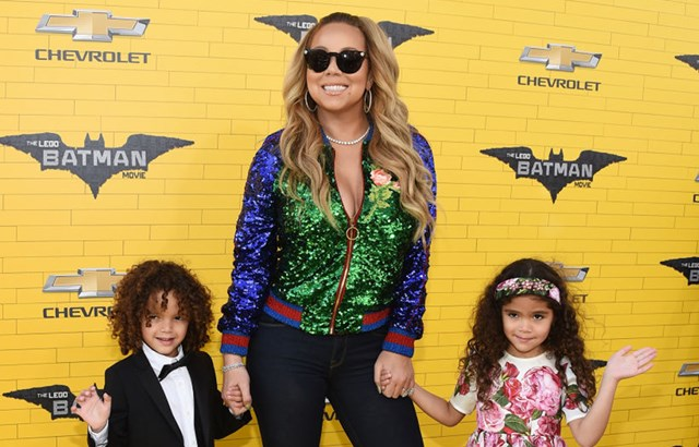 Mariah Carey brings twins Moroccan and Monroe to Lego Batman Movie premiere